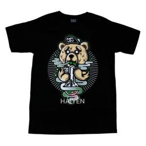 Áo thun OverDose Thái Lan màu đen in chú gấu Tibbers T0010