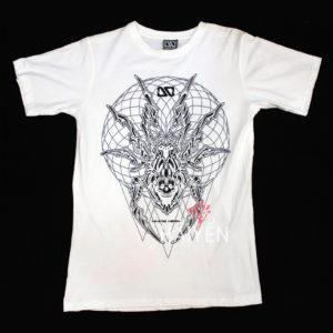 Áo thun OverDose Thái Lan màu trắng in hình con nhện mặt quỷ T0021