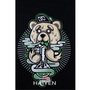 Logo Áo thun OverDose Thái Lan màu đen in chú gấu Tibbers T0010