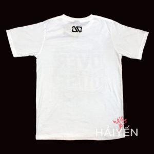 Mặt sau áo thun OverDose Thái Lan màu trắng