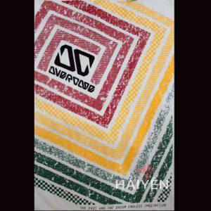 Logo Áo thun Thái Lan màu trắng in ô vuông đỏ vàng xanh lá lồng ghép T0015