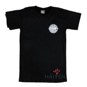 Áo thun OverDose Thái Lan màu đen in hình bắt tay trong vòng tròn T0116