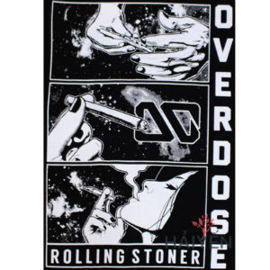 Logo Áo thun OverDose Thái Lan màu đen in hình cô gái hút thuốc T0115