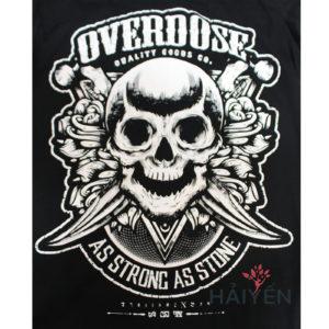 Logo Áo thun OverDose Thái Lan màu đen in đầu lâu cực ngầu T0062