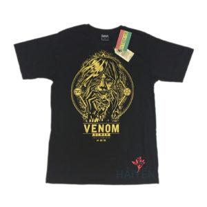 Áo thun OverDose Thái Lan màu đen in cô phù thủy Venom nhũ vàng T0011