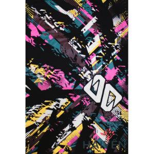 Logo Áo thun OverDose Thái Lan màu đen in chữ OD trắng trên nền ánh sáng sắc màu T0024