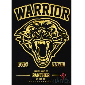Logo Áo thun OverDose Thái Lan màu đen in hổ dữ gầm nhũ vàng T0004