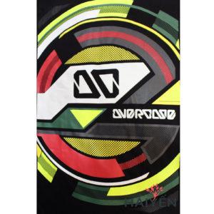 Logo Áo thun OverDose Thái Lan màu đen in vô lăng tròn nhiều màu sắc T0072