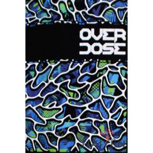 Logo Áo thun OverDose màu đen in chữ trên nền sóng biển xanh T0073
