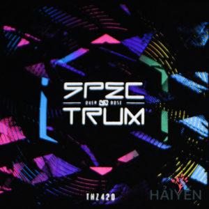 Logo Áo thun Thái Lan in 3D chữ Spectrum trong luồng sáng quang phổ sắc màu T0126