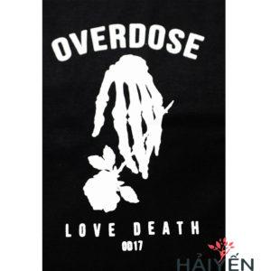 Logo Áo thun Thái Lan đen in 3D chữ Love Death OD17 T0154