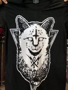 Áo thun Thái Lan màu đen in 3D mèo Ai Cập trắng T0193
