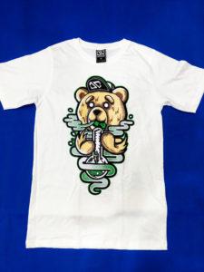Áo thun Thái Lan trắng in 3D gấu Teddy cute T0205