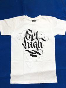 Áo thun in 3D BKK Thái Lan chữ Get High Graffiti T0212