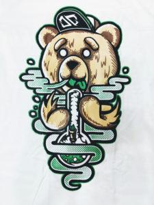 Logo Áo thun Thái Lan trắng in 3D gấu Tibber cute T0205