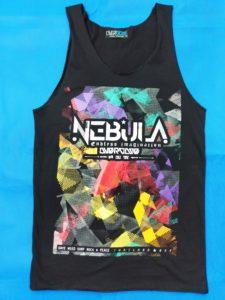 Áo thun 3 lỗ in 3D Thái Lan chữ Nebula trên nền tô màu lem nhem TKT0016