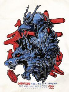 Logo Áo thun in 3D BKK Thái Lan đầu sói xanh gầm thét dũng mãnh T0218