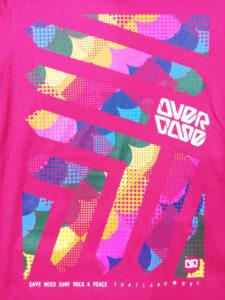 Logo Áo thun 3D Thái Lan hồng sen in mũi tên bong bóng bảy màu lồng ghép T0247
