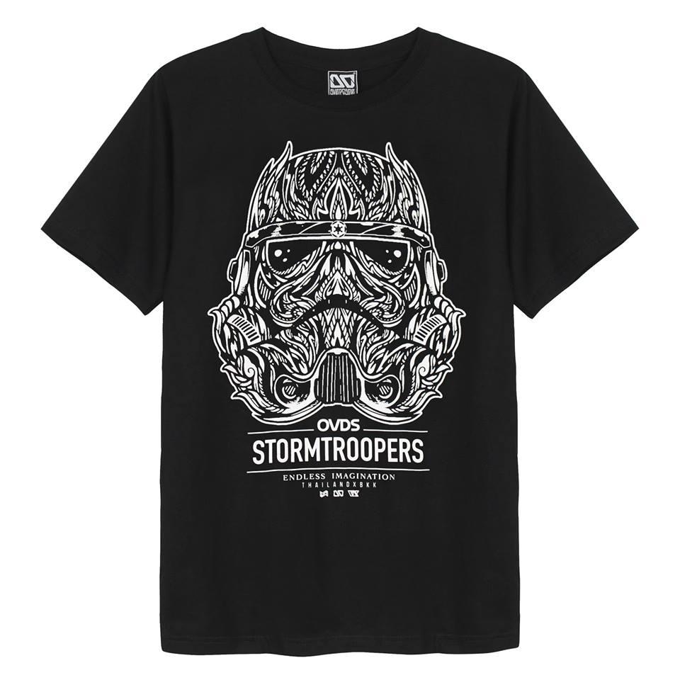 Ao thun 3D Thai Lan Overdose in hinh mat na doi truong linh Stormtrooper Star Wars T0274