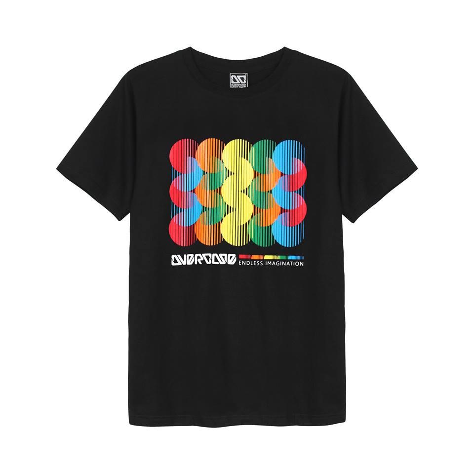 Áo thun Thái Lan Overdose in 3D bóng tròn sắc màu xen kẽ T0277