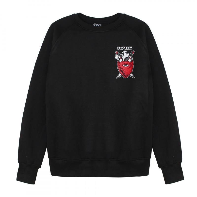 Áo hoodie Thái dài tay in 3D trái tim đỏ có mặt trên ngực trái AST003