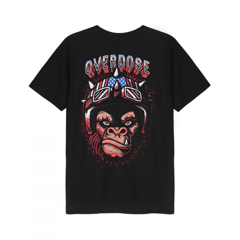 Mặt sau Áo thun Thái Overdose in 3D chú khỉ đội nón bảo hiểm siêu quậy T0288