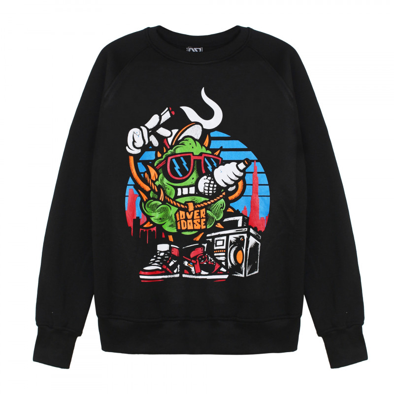 Ao sweater dai tay Thai in 3D hinh cuc bong xanh la hat rap hiphop AST004
