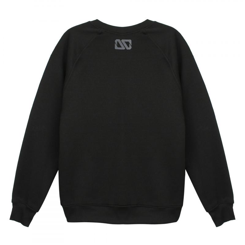 Mặt sau Áo sweater dài tay Thái in 3D hình cục bông xanh lá hát rap hiphop AST004