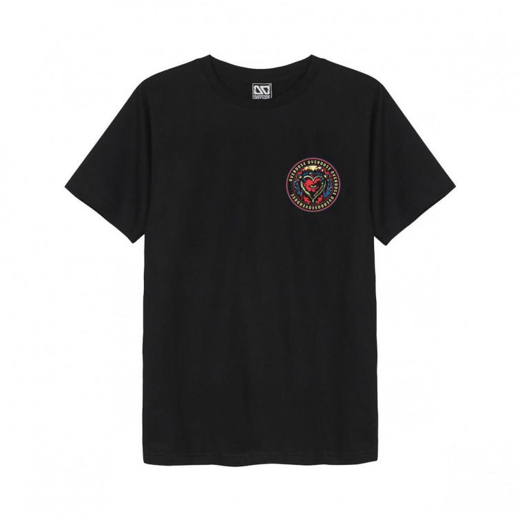 Áo thun Overdose in 3D logo quả tim đỏ xanh lá trên góc trái T0307