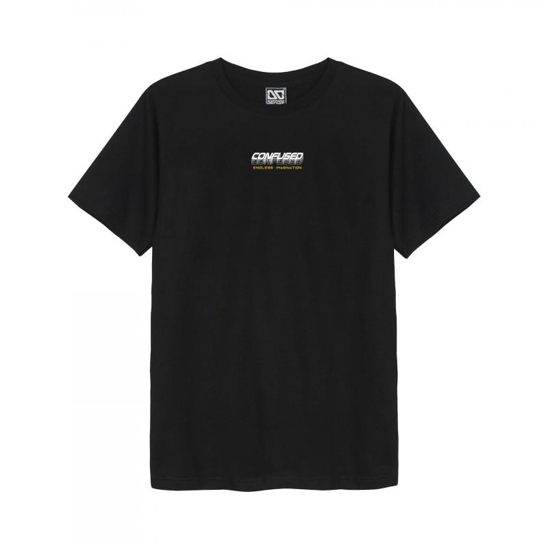 Áo phông Tee Classic Thái in chữ Confused mờ ảo T364